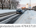 Winter cityscape of the old town of Vyborg 47643710