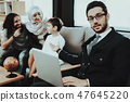 Arab Family at Reception in Psychotherapist Office 47645220