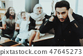 Arab Family at Reception in Psychotherapist Office 47645273
