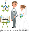 A groom and a bride 47645655