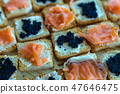 salmon and caviar canapes 47646475