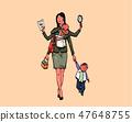 工作妈妈,职业女性,城市生活,通勤上班的工作 47648755