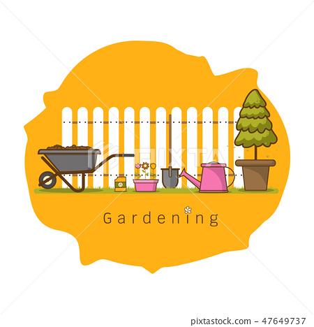 Concept of gardening Vector illustration 47649737