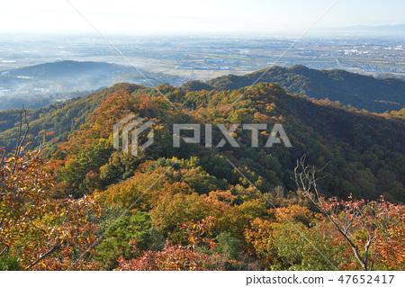 대 오야마 정상에서 남쪽으로 이어지는 능선과 관동 평야를 본다 47652417