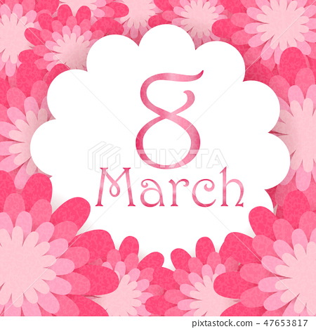cartoon happy womans day 47653817