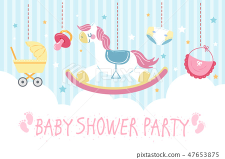 baby shower party invitation card 47653875