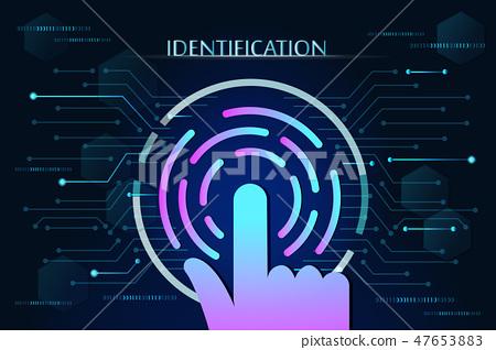 scan fingerprint biometric identity 47653883
