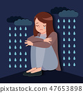 woman with depressed problem 47653898