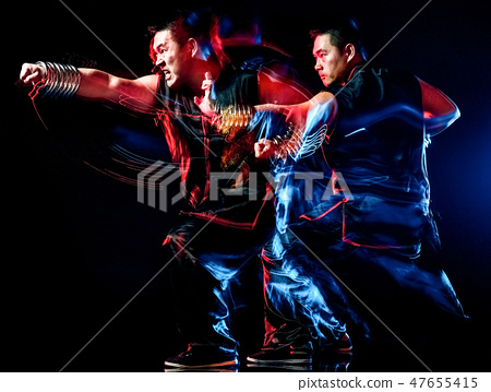 whushu chinese boxing kung fu Hung Gar fighter isolated man 47655415