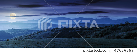 panorama of romania countryside at night 47656565