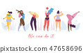 Woman Healthy Lifestyle Flat Vector Concept 47658696