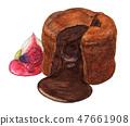 軟糖巧克力手繪水彩 47661908