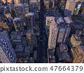 Urban night view City skyscraper group CG illustration 47664379