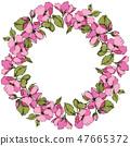 vector blossom pink 47665372