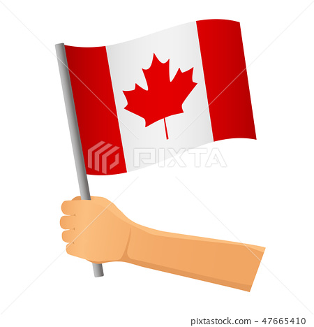 Canada flag in hand 47665410