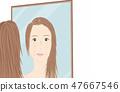 Skin trouble women 47667546