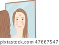 Skin trouble women 47667547