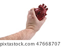 plastic human heart isolated 47668707
