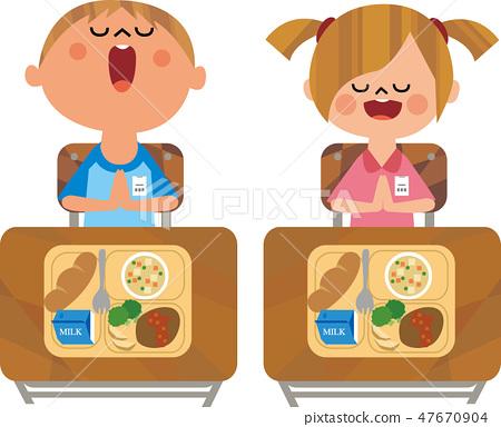 吃午饭的孩子 47670904