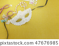 A festive,Beautiful white mardi gras  47676985