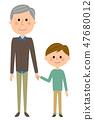 爺爺和一個男孩 47680012