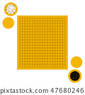 Vector illustration of empty goban and bowls 47680246