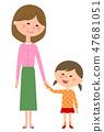 엄마와 소녀 47681051