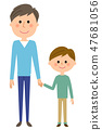 Dad and a boy 47681056