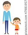 Dad and girl 47681057