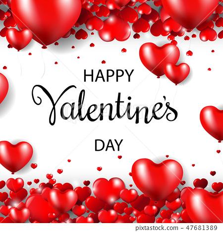 Happy Valentines Day Postcard 47681389