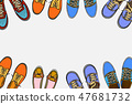 Background of many sports shoes 47681732
