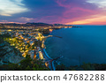 Sunset view of Sorrento, Italy. 47682288