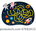 Maze games Astronaut with space. 47682615