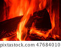 Close-up of wood burning in a stove 47684010