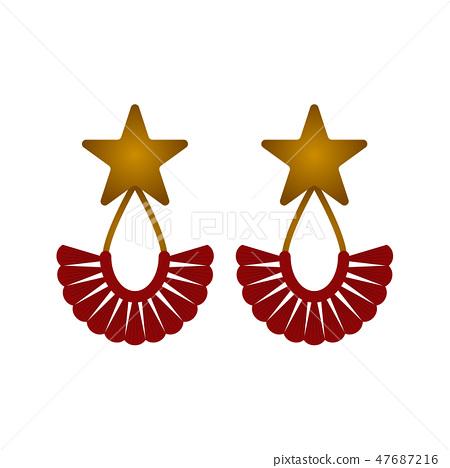 Isolated earrings image 47687216