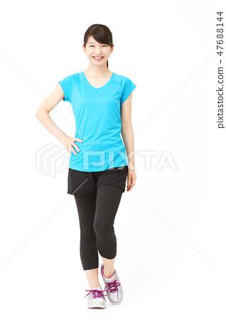 女子体育微笑 47688144