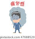 辦公室工作人員男性疲勞感覺疲倦的Moyamoya圖像 47688520