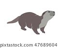 otter vector cartoon 47689604