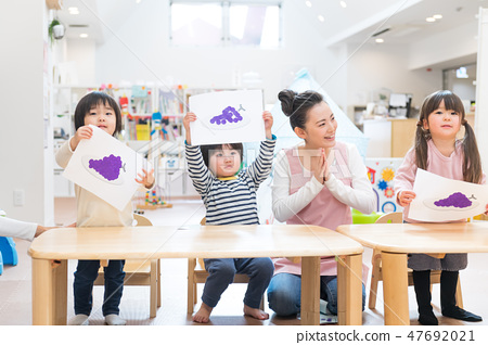Nursery teacher, toddler, lessons, early childhood education, pre-child care 47692021
