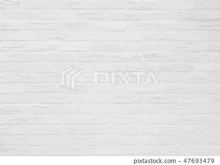 白色簡單的牆壁磚紋理背景材料 47693479