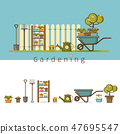 Concept of gardening Vector illustration 47695547
