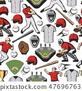 กีฬาเบสบอล,เวกเตอร์,ไร้รอยต่อ 47696763
