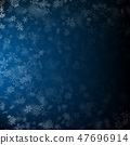 Realistic falling snowflakes in different shapes and forms. Many white cold flake transparent 47696914