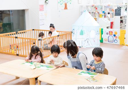 유치원, 유아 클래스 나누어 보육사 47697466