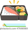商业三文鱼午餐盒 47698980