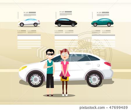 Car Dealer Web Design Vector Presentation 47699489