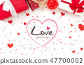 Valentine's day greeting text with gift boxes   47700002