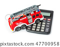 Calculator and toy fire truck 47700958