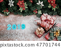 Christmas and new year concept have year 2019 47701744