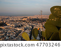 cityscape of Athens in early morning  47703246